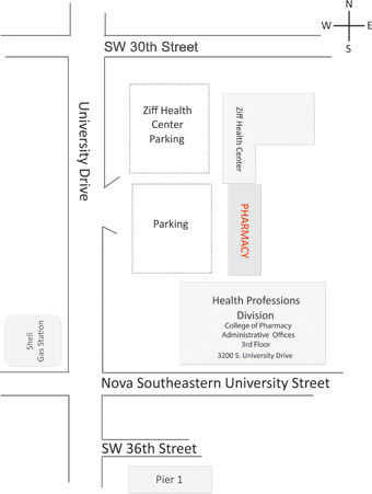Drug Information Center NSU College Of Pharmacy - College of pharmacy us map