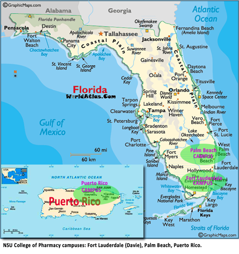 Florida and Puerto Rico