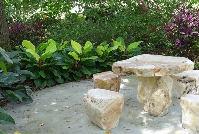 Table in Medicinal Garden