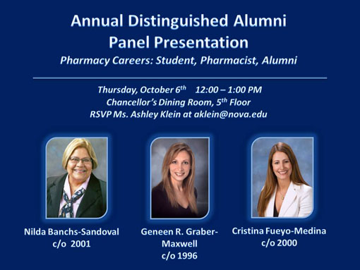 NSU COP Distinguished Alumin Panel Presentation 2011